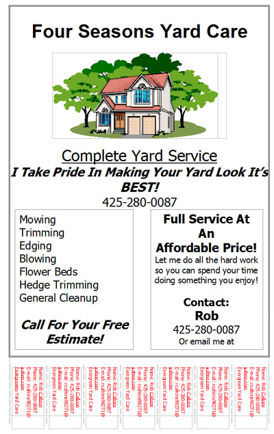 free lawn care flyer templates gopherhaul landscaping lawn care
