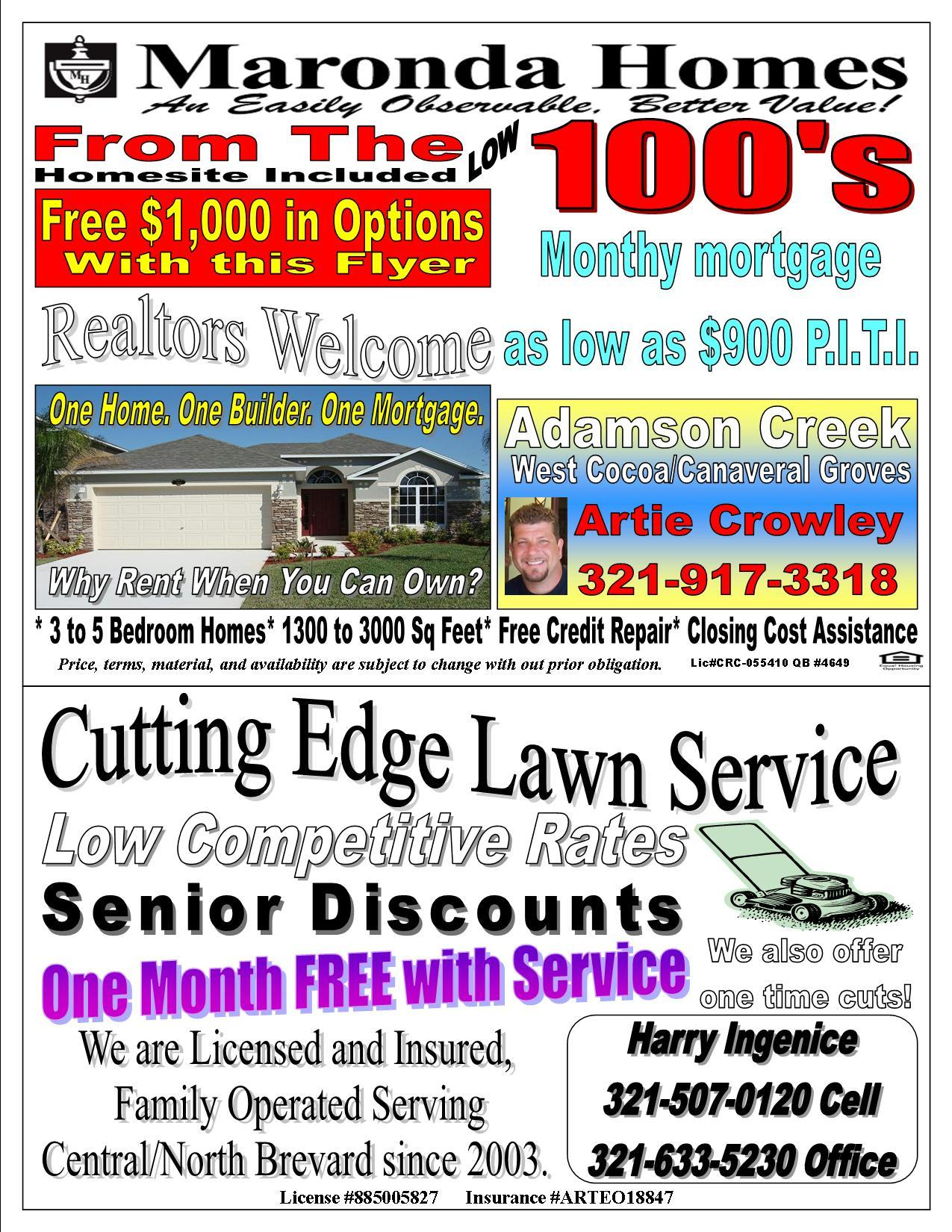 Lawn care advertising ideas - Lawn Care Business Pizzeria Menu Advertisement