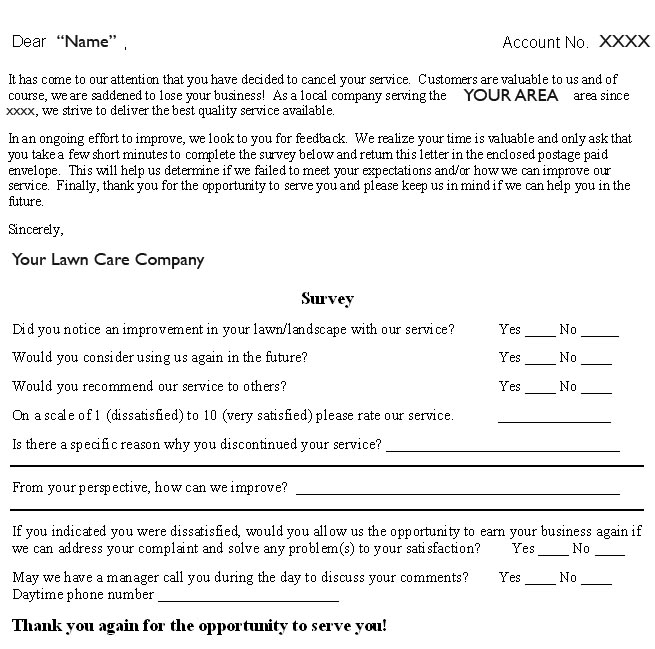 lawn care customer letter