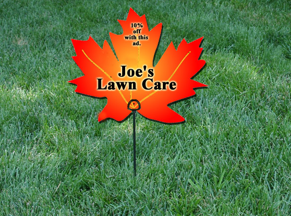 Fall leaf clean up lawn sign ideas lawn care business marketing tips gopherhaul blog - Autumn lawn care advice ...