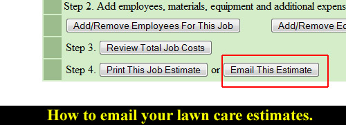 email lawn care estimate