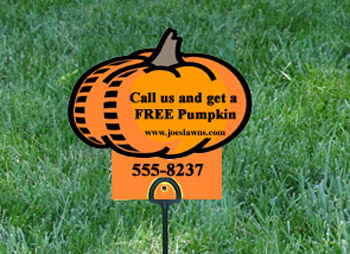 halloween lawn sign