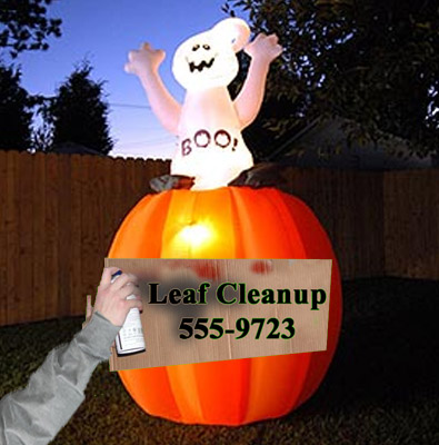 Halloween fall cleanup marketing