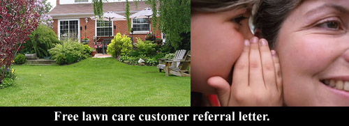 lawn care business referral letter