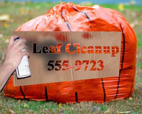 leaf cleanup bag