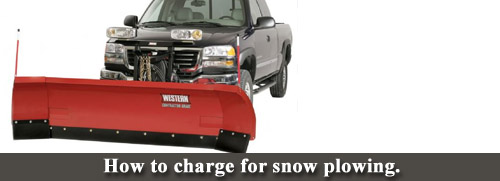 how to charge for snow plowing