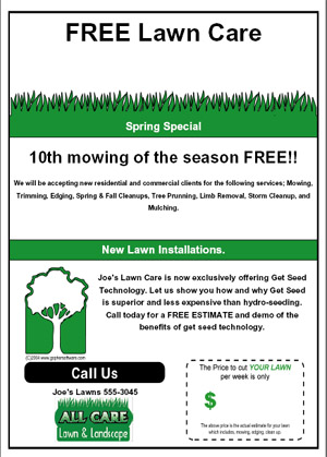 lawn care advertising templates
