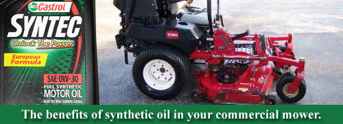 Synthetic Oil Lawn Mower