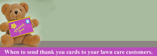 lawn care thank you cards
