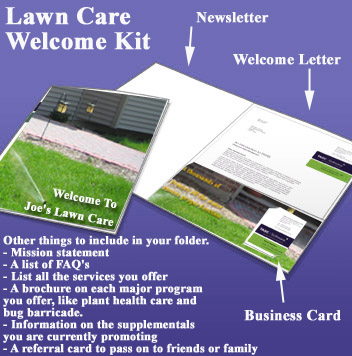 lawn care customer welcoming kit